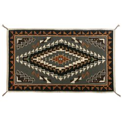 "Navajo Two Grey Hills Weaving, 7'7"" x 4'5"""