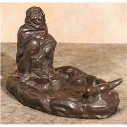 Charles M. Russell, bronze ashtray. Only two produced!