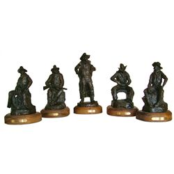 Bob Scriver, 5 piece bronze set