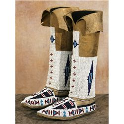Cheyenne Beaded Moccasins and Leggings