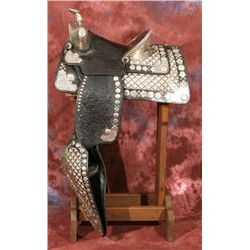 Frankie Paul Silver Mounted Parade Saddle