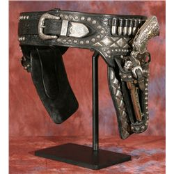 Edward H. Bohlin Silver Gun Rig with Revolvers