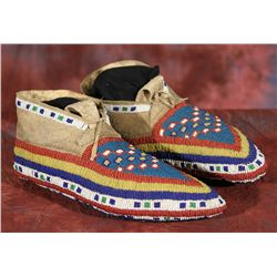 Northern Plains Beaded Ceremonial Moccasins