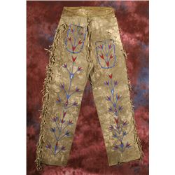 Santee Sioux Beaded Pants