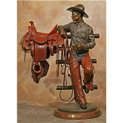 Clyde Ross Morgan bronze with Carson Thomas miniature tack