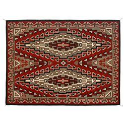 """Navajo Weaving, 6'9"""" x 5"""", Alice Begay"""