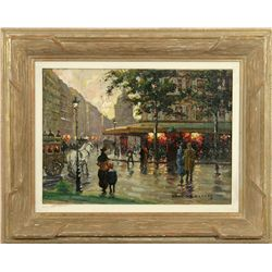 Edouard Cortes, oil on canvas laid to board