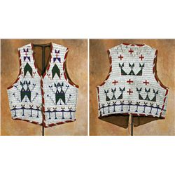 Sioux Fully Beaded Man's Vest