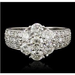 14KT White Gold 2.55ctw Diamond Ring
