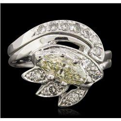 14KT White Gold 1.26ctw Diamond Ring
