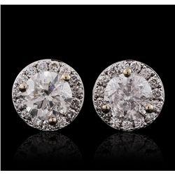 18KT White Gold 1.53ctw Diamond Earrings