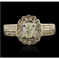 14KT Yellow Gold 1.23ctw Diamond Ring
