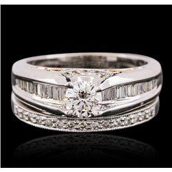 14KT Two-Tone Gold 1.31ctw Diamond Ring Wedding Set