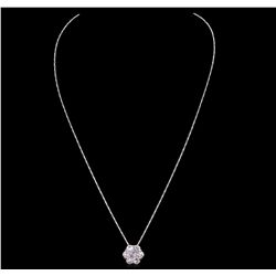 14KT White Gold 2.10ctw Diamond Pendant With Chain