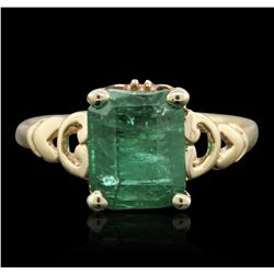 14KT Yellow Gold 2.71ct Emerald Ring