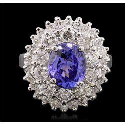 14KT White Gold 2.38ct Tanzanite and Diamond Ring