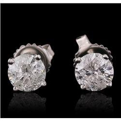 14KT White Gold 1.57ctw Diamond Stud Earrings