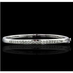 14KT White Gold 1.23ctw Diamond Bangle