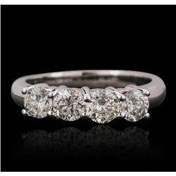 14KT White Gold 1.24ctw Diamond Ring