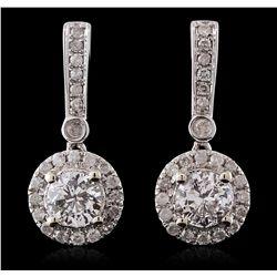 14KT White Gold 1.55ctw Diamond Earrings