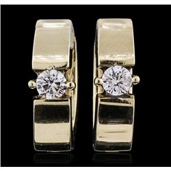 14KT Yellow Gold 0.29ctw Diamond Earrings