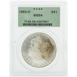 1883-O PCGS MS64 Morgan Silver Dollar Coin