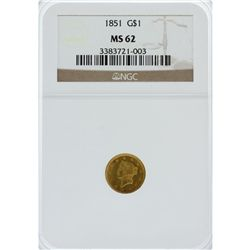 1851 $1 Type 1 Gold Coin