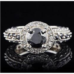 14KT White Gold 1.35ct Black Diamond Ring