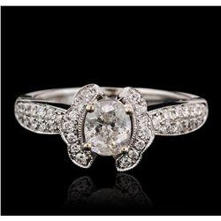 18KT White Gold 1.12ctw Diamond Ring