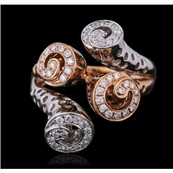 18KT Two-Tone Gold 0.33ctw Diamond Ring