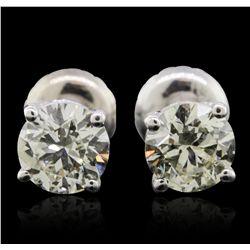 14KT White Gold 1.23ctw Diamond Solitaire Earrings