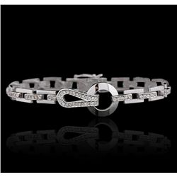 14KT White Gold 0.72ctw Diamond Bracelet