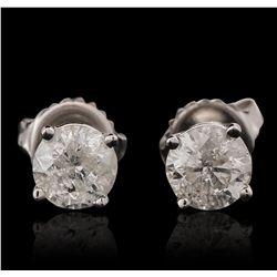 14KT White Gold 1.44ctw Diamond Stud Earrings