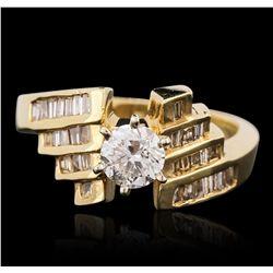 14KT Yellow Gold 0.96ctw Diamond Ring