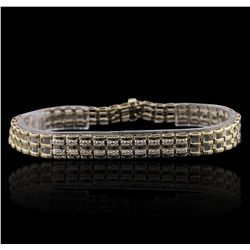 10KT Yellow Gold 0.20ctw Diamond Bracelet