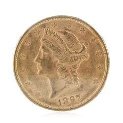 1897 BU $20 Double Eagle Liberty Head Gold Coin