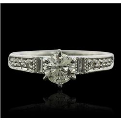 Platinum 1.02ctw Diamond Ring