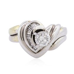 14KT White Gold 0.65ctw Diamond Wedding Ring Set