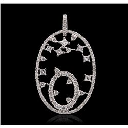 18KT White Gold 11.08ctw Diamond Pendant