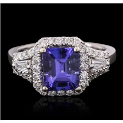 14KT White Gold 2.11ct Tanzanite and Diamond Ring