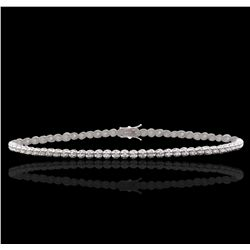 18KT White Gold 0.90ctw Diamond Tennis Bracelet