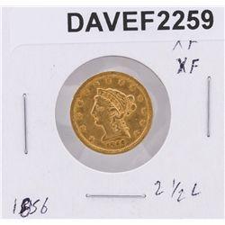1856 $2.50 XF Liberty Head Quarter Eagle Coin