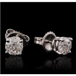 14KT White Gold 1.21ctw Diamond Stud Earrings