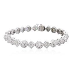 14KT White Gold 1.69ctw Diamond Bracelet