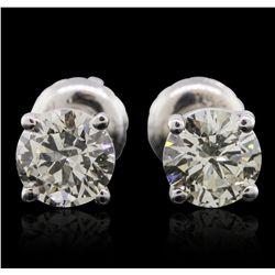 14KT White Gold 1.22ctw Diamond Solitaire Earrings