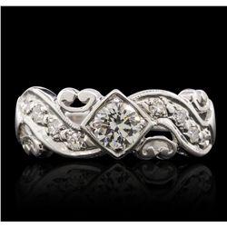 14KT White Gold 0.55ctw Diamond Ring