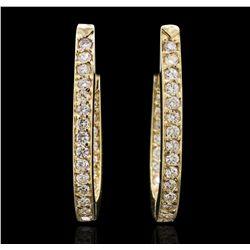 14KT Yellow Gold 1.29ctw Diamond Earrings