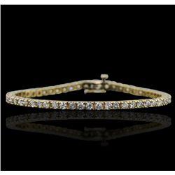 14KT Yellow Gold 4.91ctw Diamond Bracelet