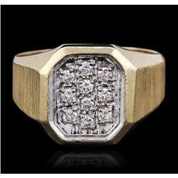 14KT Yellow Gold 0.29ctw Diamond Ring