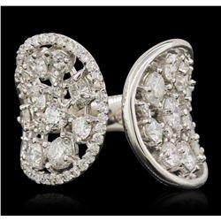 14KT White Gold 3.81ctw Diamond Ring